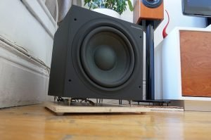 subwoofer in apartment